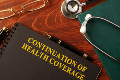 Continuation of Health Coverage. Stock Image