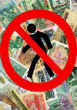 continue la crise économique Photographie stock libre de droits