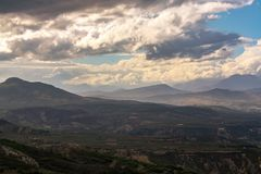 Continue panoramic view from the mountain royalty free stock images