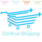 Continue Shopping Icon Royalty Free Stock Images