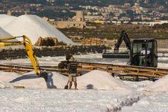 Mountains of salt stock photos