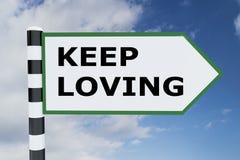 Continuez à aimer ! concept Image libre de droits