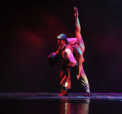 Continui l'identità retro-- del dramma di ballo di mistero-tango Fotografia Stock Libera da Diritti