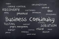 Continuidad del negocio Foto de archivo libre de regalías