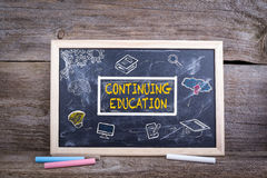 Continuing Education on blackboard. Knowledge Education study Learning Concept.  Royalty Free Stock Photography