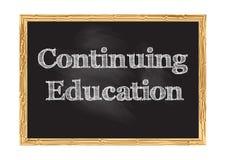 Continuing education blackboard notice Vector illustration vector illustration