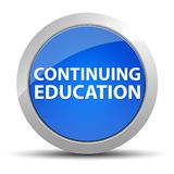 Continuing Education blue round button royalty free illustration