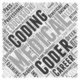 Are continuing education okay for medical coding career word cloud concept vector background. Text Royalty Free Stock Photography