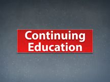 Continuing Education Red Banner Abstract Background vector illustration