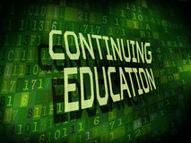 Continuing education words  on digital background Royalty Free Stock Photography
