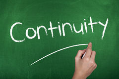 Continuity. Business continuity concept single word on chalkboard Stock Image