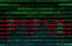 Continuo numerico, dati del abctract nel codice binario, abbattimento di tecnologia di elasticità fotografia stock libera da diritti