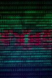 Continuo numerico, dati del abctract nel codice binario, abbattimento di tecnologia di elasticità immagini stock