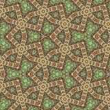 Continuous arabesque, ornamental mosaic in green, teal, pink. Continuous arabesque, ornamental mosaic in green, teal Royalty Free Stock Photography