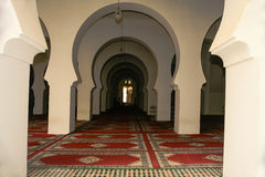Continuous Archways Inside a Mosque Royalty Free Stock Photos