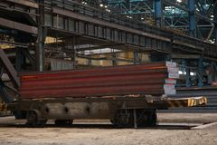 Continuous casting machine royalty free stock images