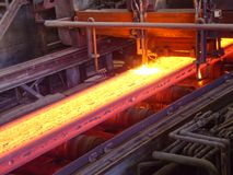 Continuous casting machine for slabs royalty free stock images