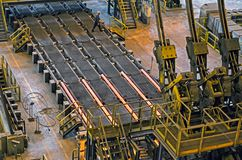 Continuous casting of steel stock photography