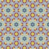 Continuous crystal pattern with floral elements royalty free illustration