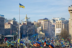Continuous Euromaidan in the Ukrainian capital Royalty Free Stock Image