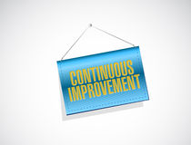 continuous improvement banner sign concept Stock Photography
