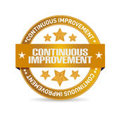 Continuous improvement seal sign concept Stock Photo