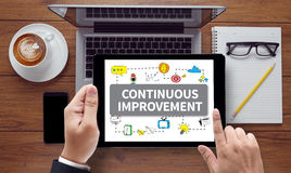 CONTINUOUS IMPROVEMENT Royalty Free Stock Images