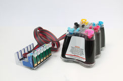 Continuous Ink Supply System Stock Image