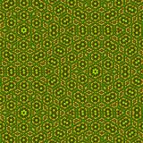 Continuous kaleidoscopic background in green grass color royalty free illustration