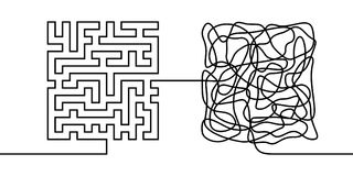 Free Continuous Line Drawing A Chaos And Order Concept Stock Image - 111936061