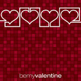 Continuous line heart Valentine's Day card Stock Image