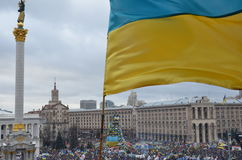 Continuous mass protest in the Ukrainian capital Royalty Free Stock Photos
