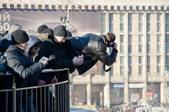 Continuous mass protest in the Ukrainian capital Stock Photos