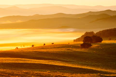 The continuous mountains summer prairie. The photo was taken in Wulanbutong town Hexigten banner Chifeng city the Nei Monggol Autonomous Region,China royalty free stock image