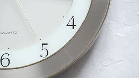 Continuous moving of second hand on the wall clock. Close up stock video footage