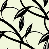 Continuous pattern of intertwining black vines. Stock Photography