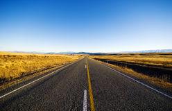 Continuous Road Scenic With Mountain Ranges Concept Royalty Free Stock Photos