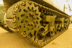 Continuous track on military vehicle Royalty Free Stock Photos