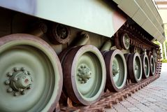 Continuous Tracks of an Army Tank Stock Photography