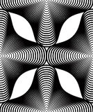 Continuous vector pattern with black graphic lines, decorative a Stock Image