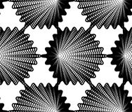 Continuous vector pattern with black graphic lines Stock Photography