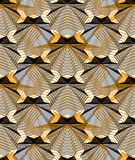 Continuous vector pattern with graphic lines, decorative abstract Stock Image