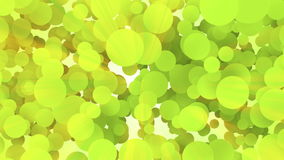 Continuously moving green dots