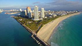 Continuum Miami Beach aerial video Stock Photography