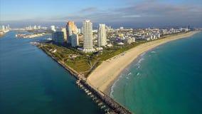 Continuum Miami Beach aerial video stock video footage