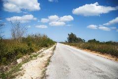 Continuweg in Cuba Royalty-vrije Stock Foto