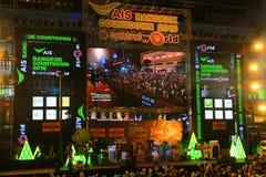 Conto alla rovescia Centralworld 2015 Bangkok, Tailandia Immagini Stock Libere da Diritti