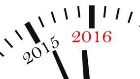 Conto alla rovescia dell'orologio a partire dall'anno 2014 a 2015 stock footage