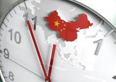 Conto alla rovescia della Cina Fotografia Stock Libera da Diritti