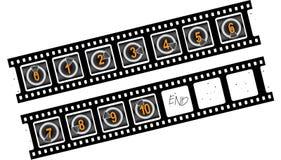 Conto alla rovescia della pellicola Fotografie Stock Libere da Diritti
